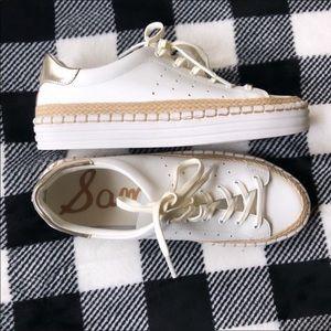 White sneakers espadrilles